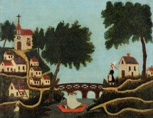 Henri Julien Rousseau - Landscape with Bridge