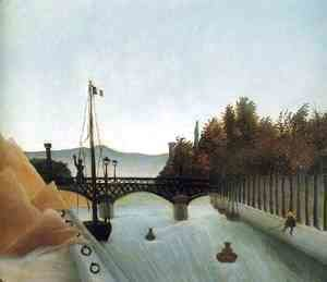 Henri Julien Rousseau - Footbridge at Passy