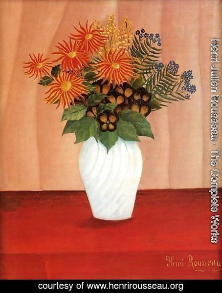 Henri Julien Rousseau - Bouquet of Flowers I