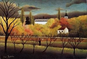 Henri Julien Rousseau - Landscape with Farmer