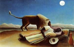 Henri Julien Rousseau - Sleeping Gypsy