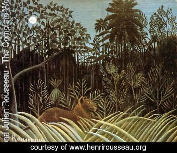 Henri Julien Rousseau - Jungle with Lion
