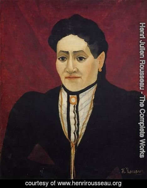 Henri Julien Rousseau - Portrait of A Woman III