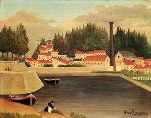 Henri Julien Rousseau - Village near a Factory