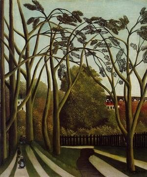 Henri Julien Rousseau - Landscape on the Banks of the Bievre at Becetre, Spring
