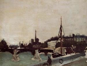 View of the Ile Saint-Louis from the Quai Henri IV (study)