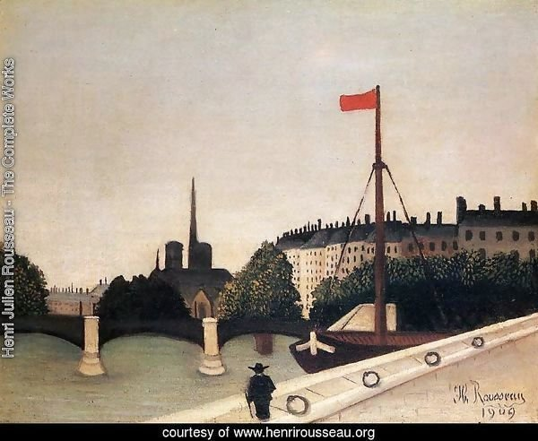 Notre Dame: View of the Ile Saint-Louis from the Quai Henri IV