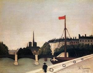 Henri Julien Rousseau - Notre Dame: View of the Ile Saint-Louis from the Quai Henri IV