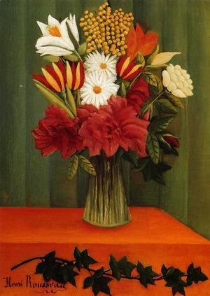 Henri Julien Rousseau - Bouquet of Flowers with an Ivy Branch II