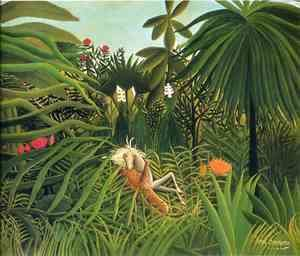 Henri Julien Rousseau - Horse Attacked by a Jaguar