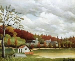 Henri Julien Rousseau - View of Bievre-sur-Gentilly
