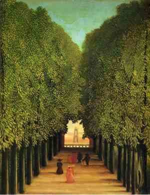 Henri Julien Rousseau - The Avenue in the Park at Saint-Cloud 2