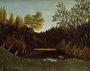 Henri Julien Rousseau - View of the Bois de Boulogne