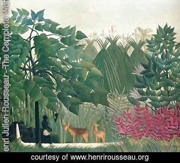 Henri Julien Rousseau - The Waterfall