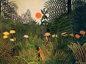 Henri Julien Rousseau - Negro Attacked by a Jaguar 1910