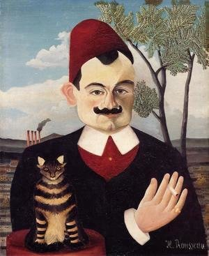 Henri Julien Rousseau - Portrait of Mr X (Pierre Loti) 1905-1906