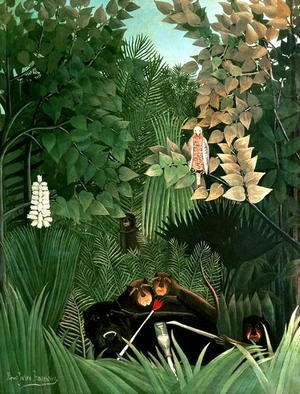 Henri Julien Rousseau - The Monkeys 1906