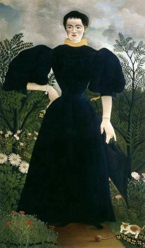 Henri Julien Rousseau - Portrait of Madame M.