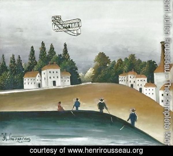 Henri Julien Rousseau - The Fishermen and the Biplane 2