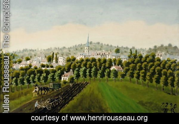 Henri Julien Rousseau - View of Bottom and Meudon Billancourt