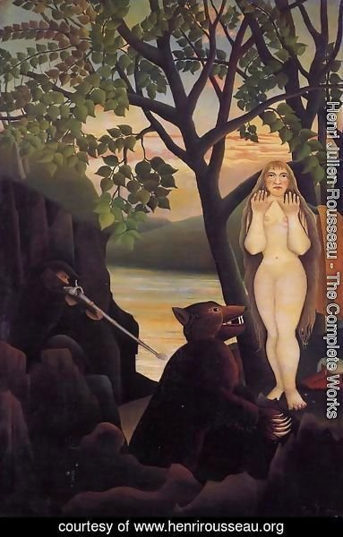 Henri Julien Rousseau - Nude and Bear