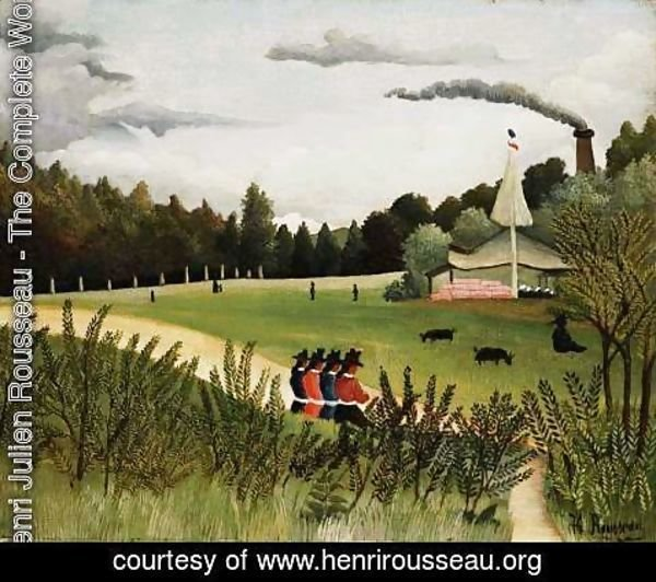 Henri Julien Rousseau - Park with Figures