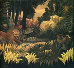 Henri Julien Rousseau - The Lion Hunter