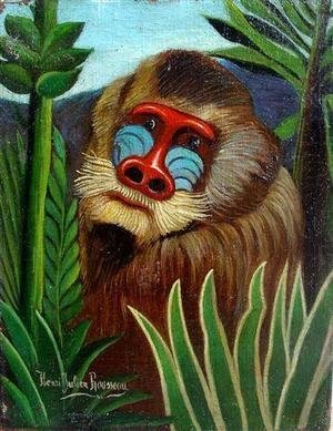 Henri Julien Rousseau - Mandrill in the Jungle