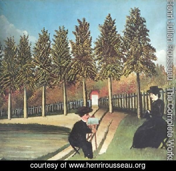 Henri Julien Rousseau - Painter And Model 1900 1905