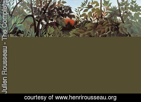 Henri Julien Rousseau - The Hungry Lion Throws Itself On The Antelope 1905