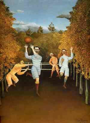 Henri Julien Rousseau - The Football Players