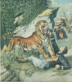 Henri Julien Rousseau - Attacked By A Tiger Jpg