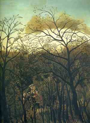 Henri Julien Rousseau - Rendezvous In The Forest