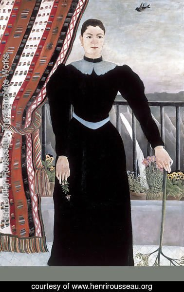 Henri Julien Rousseau - Portrait Of A Woman 1895