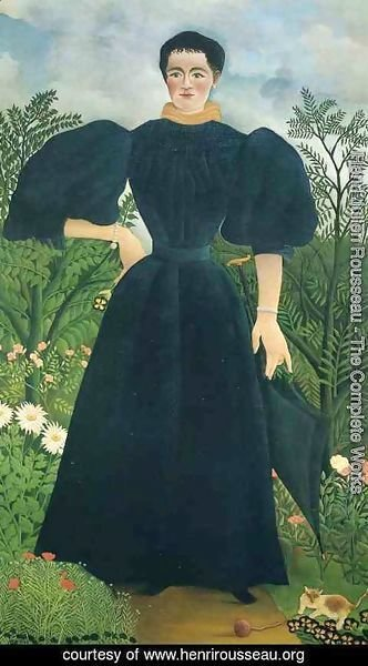 Henri Julien Rousseau - Portrait Of A Woman 1897