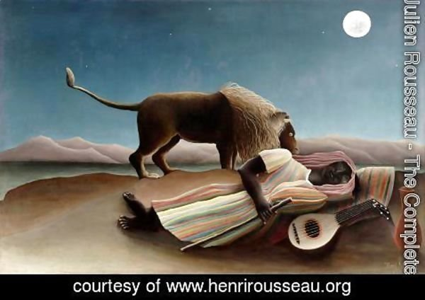 Henri Julien Rousseau - The Sleeping Gypsy