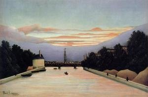 Henri Julien Rousseau - La Tour Eiffel   The Eiffel Tower