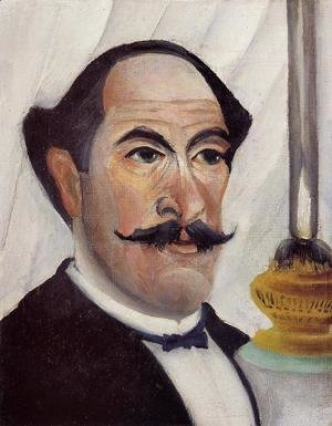Henri Julien Rousseau - Self Portrait Of The Artist With A Lamp