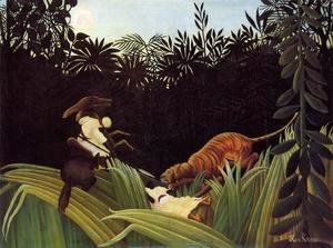 Henri Julien Rousseau - Scout Attacked By A Tiger