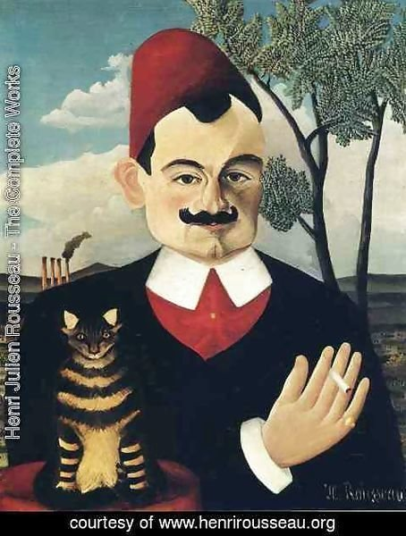 Henri Julien Rousseau - Portrait Of Pierre Loti