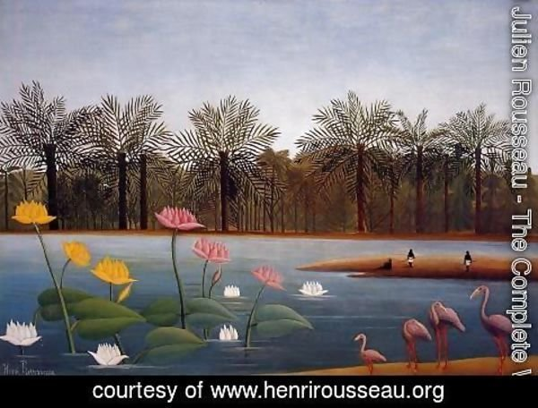 Henri Julien Rousseau - The Flamingoes