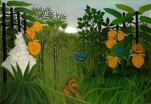 Henri Julien Rousseau - The Repast Of The Lion