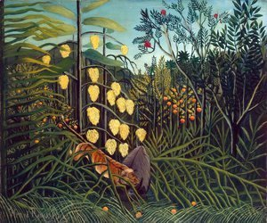 Henri Julien Rousseau - Combat Of A Tiger And A Buffalo
