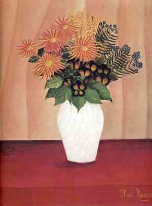 Henri Julien Rousseau - Bouquet Of Flowers