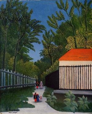 Henri Julien Rousseau - Walking In The Parc Montsouris