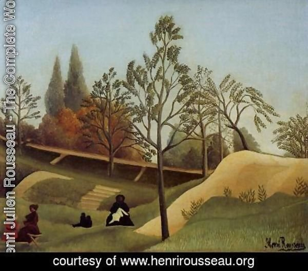 Henri Julien Rousseau - View Of The Fortifications