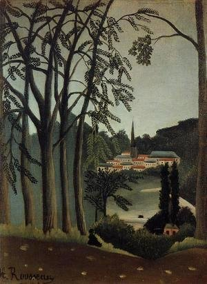 Henri Julien Rousseau - View Of Saint Cloud