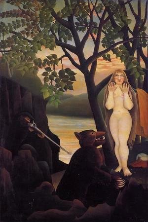 Henri Julien Rousseau - Unpleasant Surprise