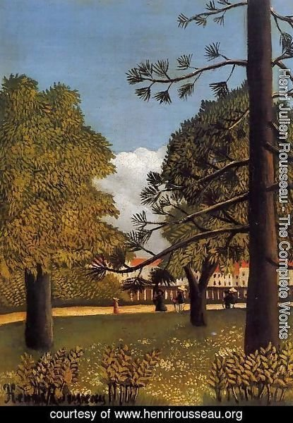 Henri Julien Rousseau - View Of Parc De Montsouris