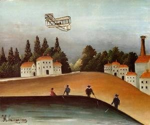 Henri Julien Rousseau - The Fishermen And The Biplane